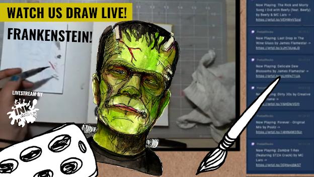 We drew Frankenstein - Live Time Lapse!