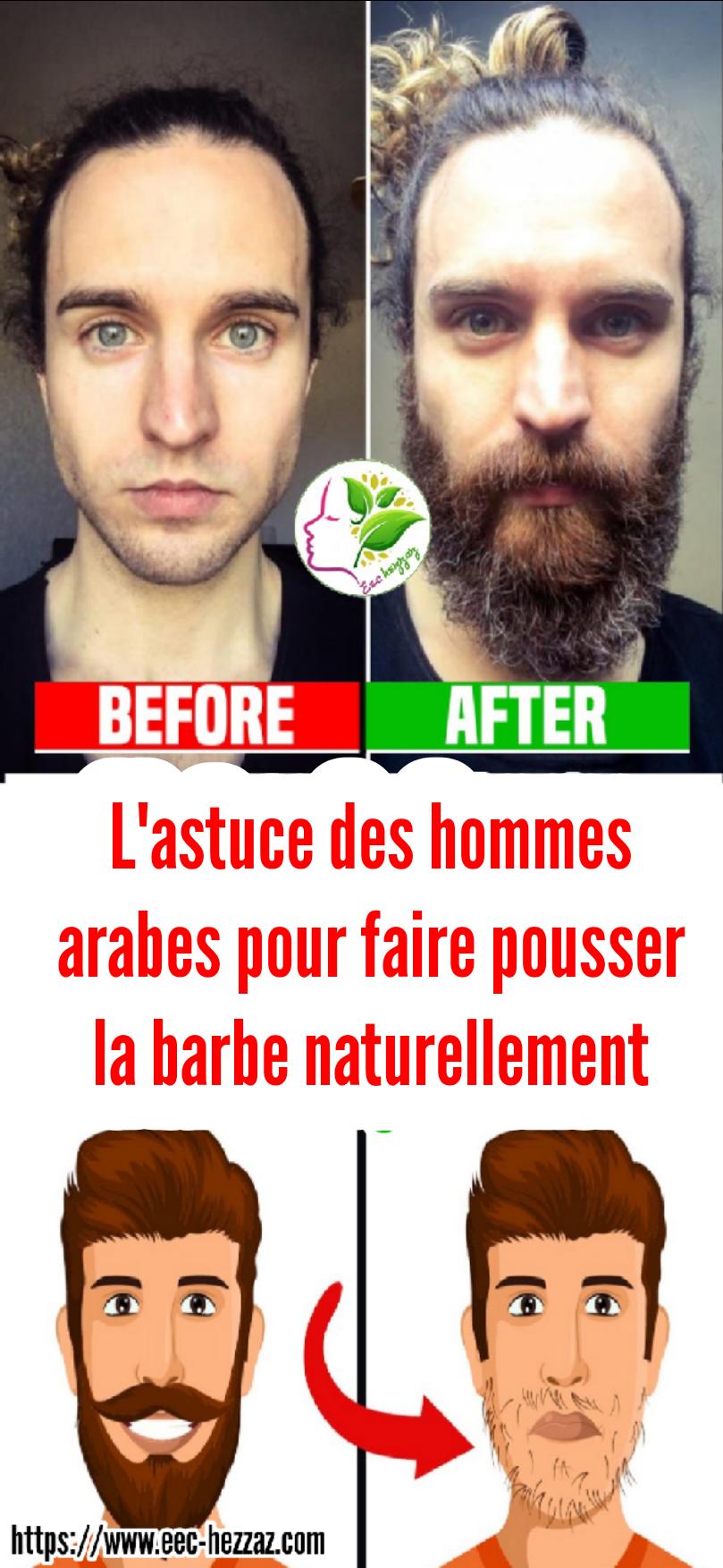 L'astuce des hommes arabes pour faire pousser la barbe naturellement