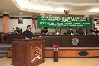 Rapat Paripurna XXXI DPRD Kota Tarakan Masa Sidang III 2019/2020 - Tarakan Info