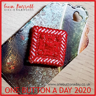 One Button a Day 2020 by Gina Barrett - Day 87: Tile