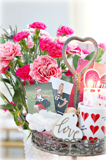 tiered, tray, decorate, decor, valentine, vignette, photographs, athomewithjemma.com