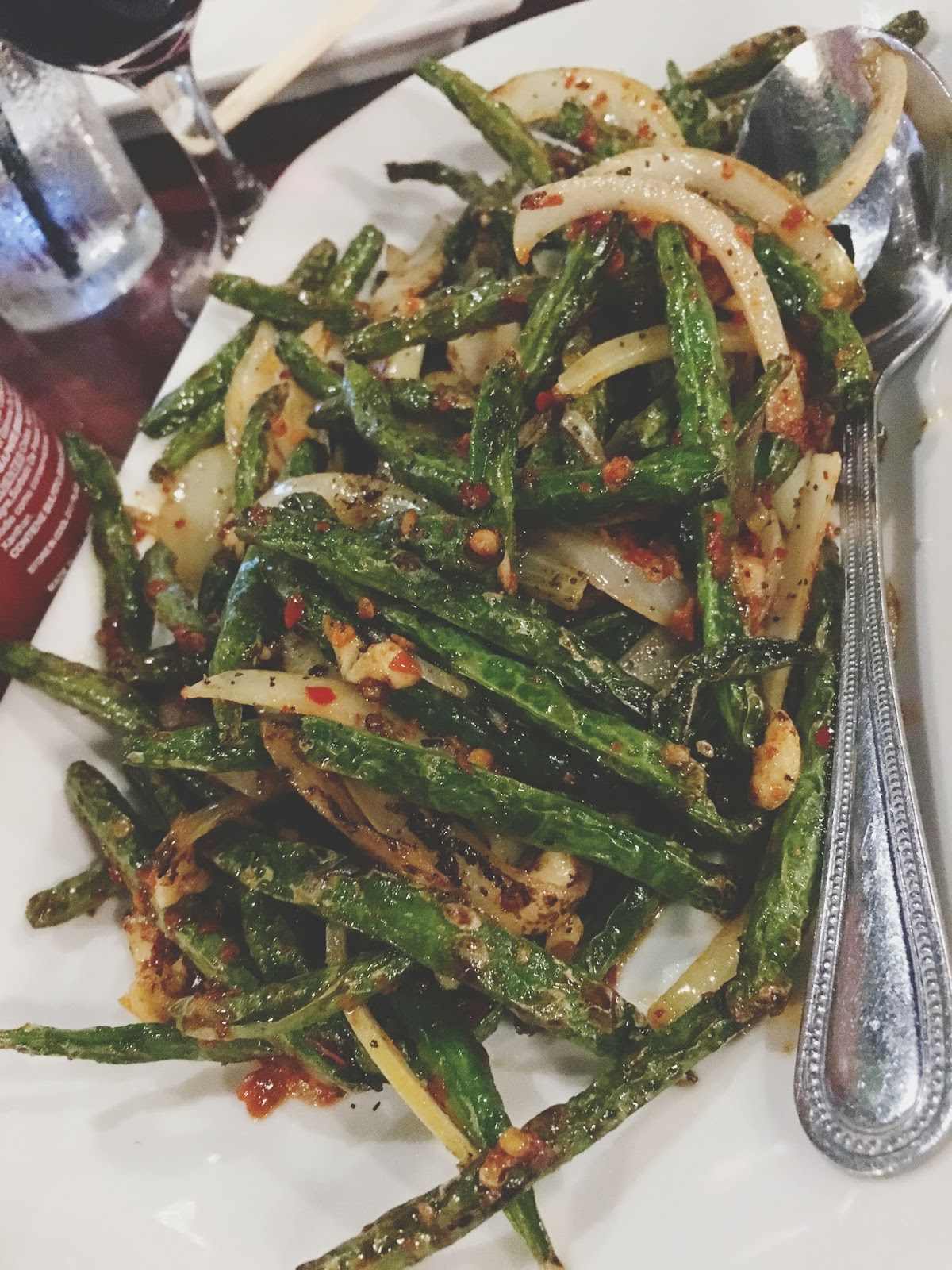 string beans at Vietnam Restaurant in Houston, Texas