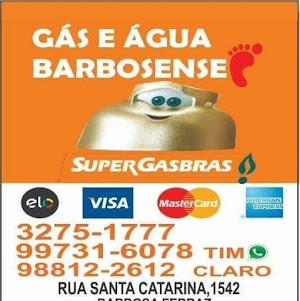 Quando acabar o Gás ou Água disk Gás Barbosense!!!