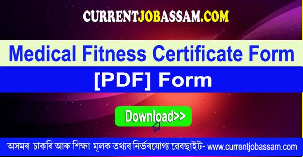 [PDF] Medical Fitness Certificate Form