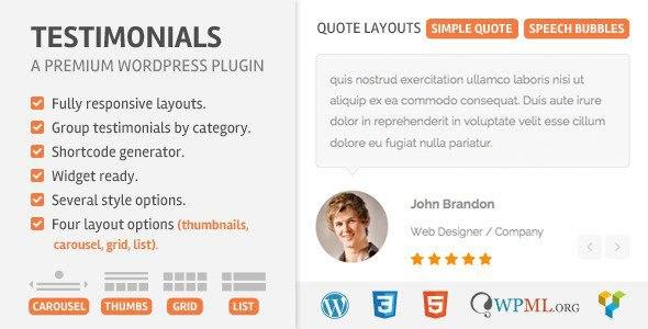 Testimonials v2.1 – CodeCanyon WordPress Plugin