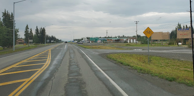 Coming in to town of Tok Alaska