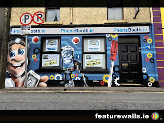 PHONEBOOTH.IE PHONE REPAIR SHOP LOUGHREA HAND PAINTED MURALS BY PROFESSIONAL IRISH MURAL ARTISTS FEATUREWALLS.IE