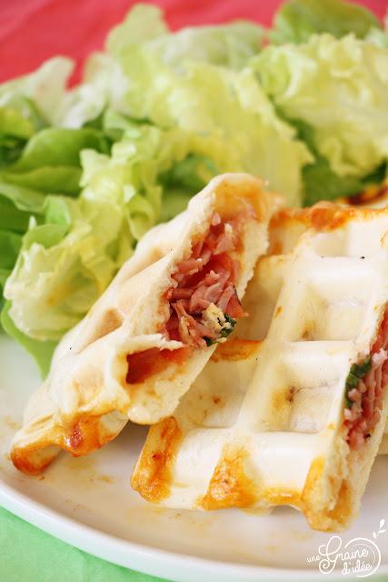 Pizza Gaufre Recette facile et rapide