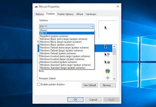 Thay đổi con trỏ chuột mặc định của Windows 10 bằng con trỏ chuột của Mac
