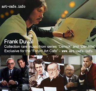 обложка с рекламой музыки Франка Дюваля к сериалам