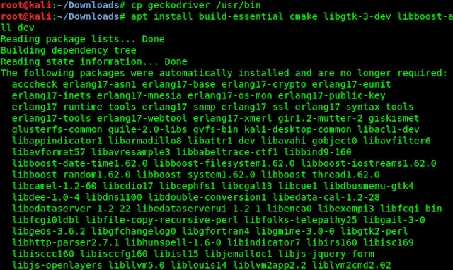 apt install build-essential cmake libgtk-3-dev libboost-all-dev