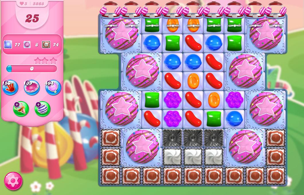 Candy Crush Saga level 5868