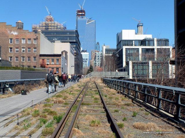 paseo por high line nueva york