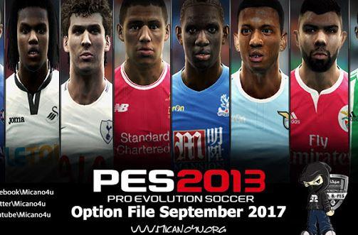 Pes 2013 Option File Released 01 09 2018 Micano4u Pes