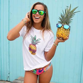 Pineapple Skull Tee With Sunglasses
