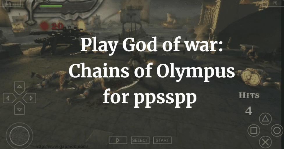 Download God of war Chains of Olympus PSP ISO for PPSSPP