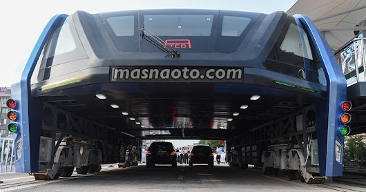 Ini Penampakan Bus di Cina yang Anti Macet (Transit Elevated Bus)