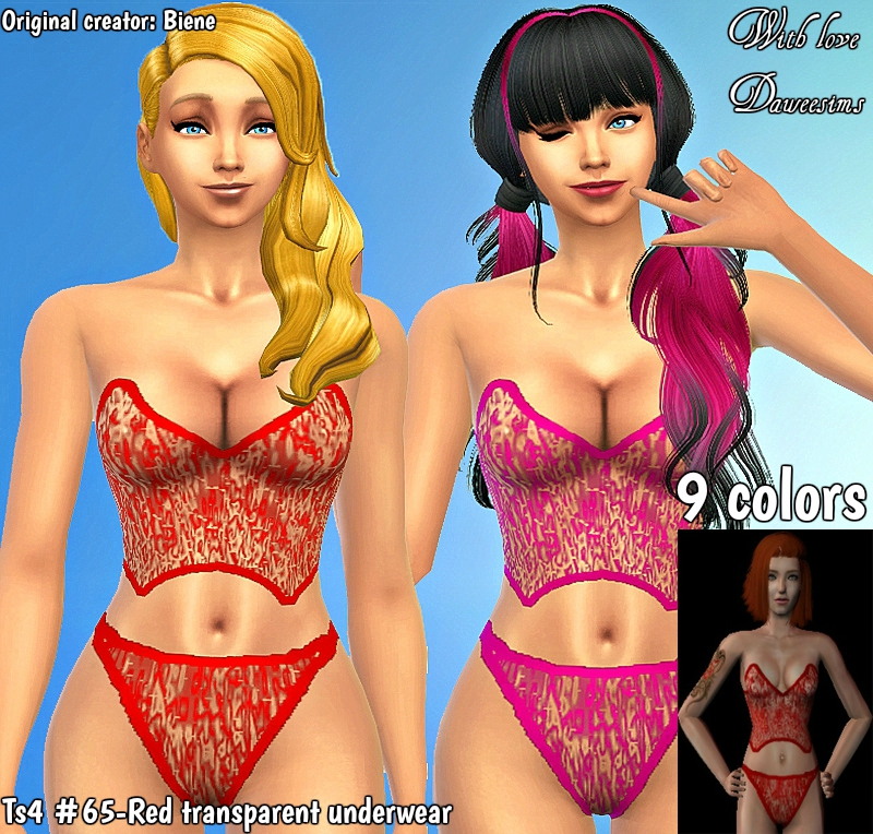 Sims 4 CCs - The Best: Lingerie by Daweesims