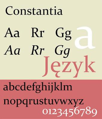 constantia cv font