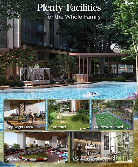 fasilitas apartemen elevee alam sutera