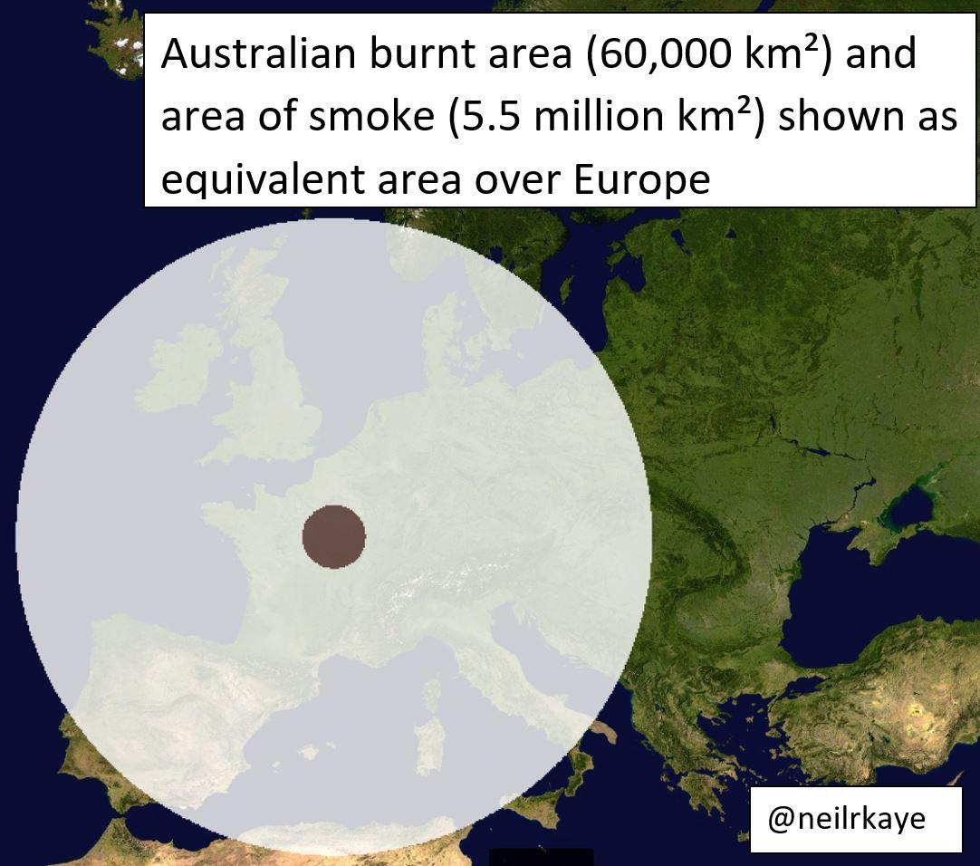 How Much Land Has Burned In Australia