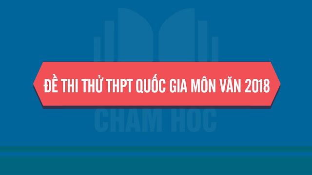 Đáp án đề thi thử THPT Quốc gia môn Văn 2018 - THPT Chuyên Lam Sơn lần 1
