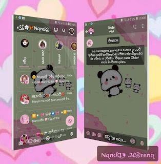 Panda Cute Theme For YOWhatsApp & Fouad WhatsApp By Nanda