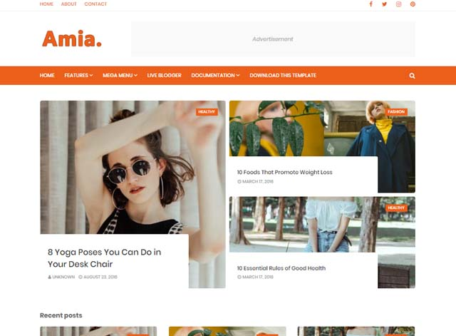 Best Free Responsive Blogger Templates