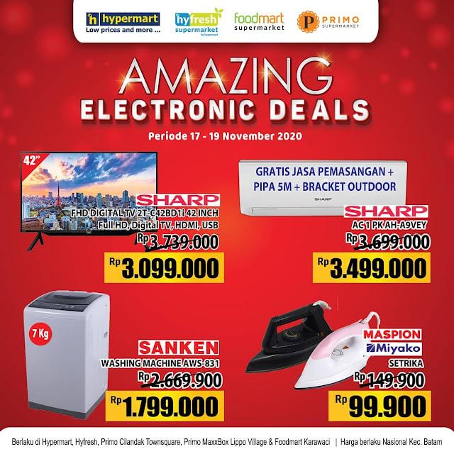 #Hypermart - #Promo AMAZING Electronic Deal , Ada Diskon TV 42 INCH & AC (s.d 19 November 2020)