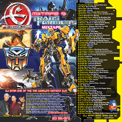DJ Emir Transformers Mixtape CD