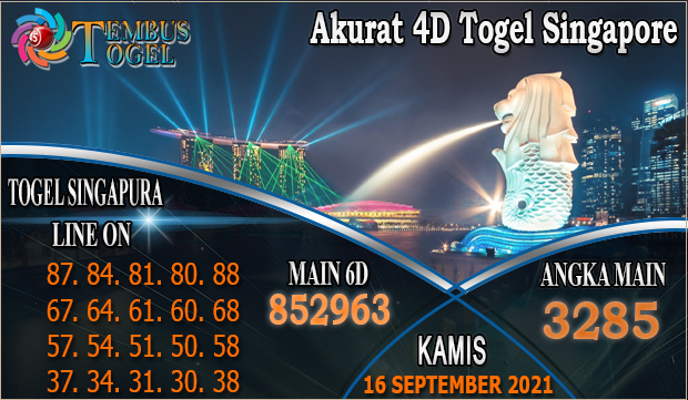 Akurat 4D Togel Singapore, Kamis 16 September 2021 Tembus Togel