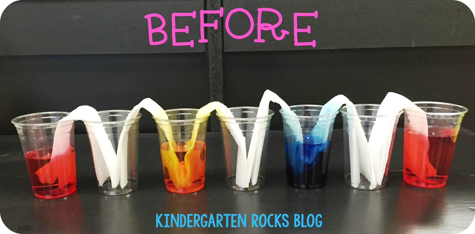 Kindergarten Rocks Walking Water Experiement