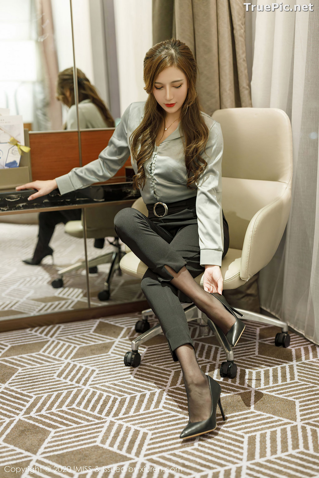 Image IMISS Vol.492 - Chinese Model - Lavinia肉肉 - Long Legs Office Girl - TruePic.net - Picture-3