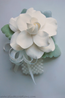 gardenia wrist corsage