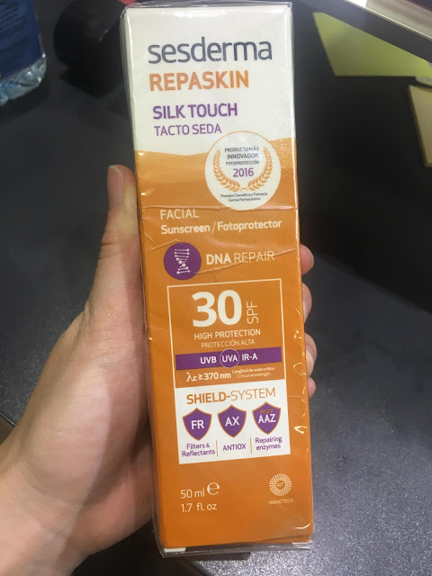 Sesderma Silk Touch SPF30 sunscreen review, Sesderma Silk Touch SPF30 sunscreen