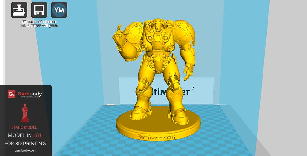 3D model of Terran Marine from StarCraft
