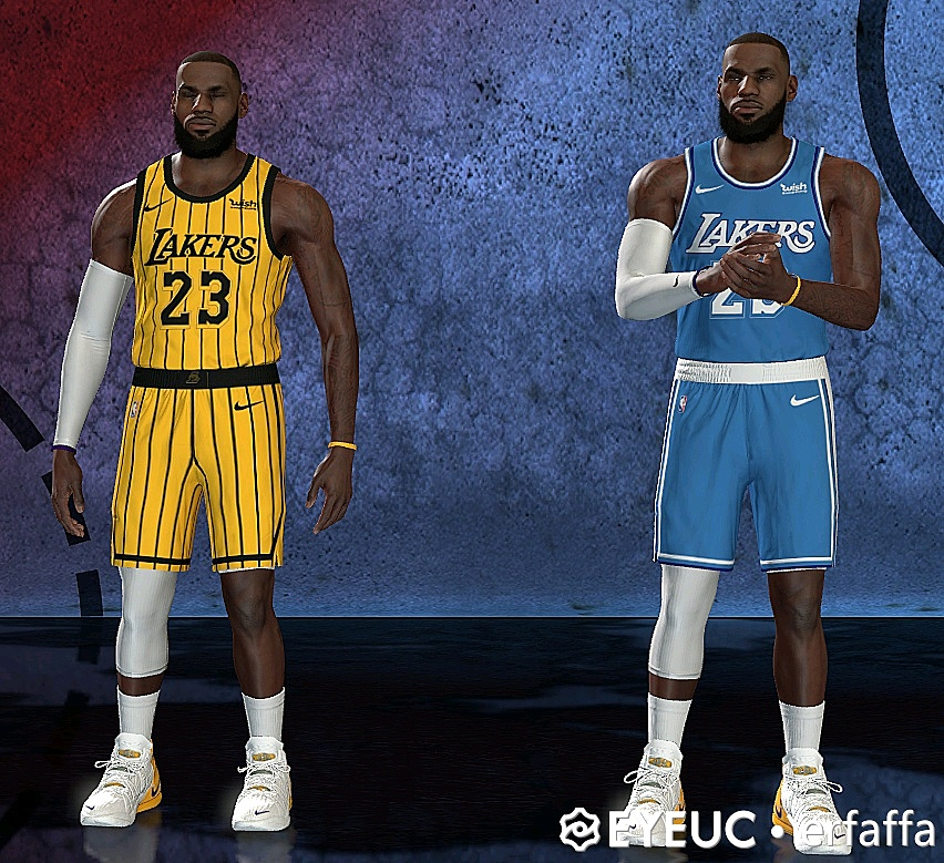 NBA 2K21 Cleveland and Lakers concept Jerseys by erfaffa