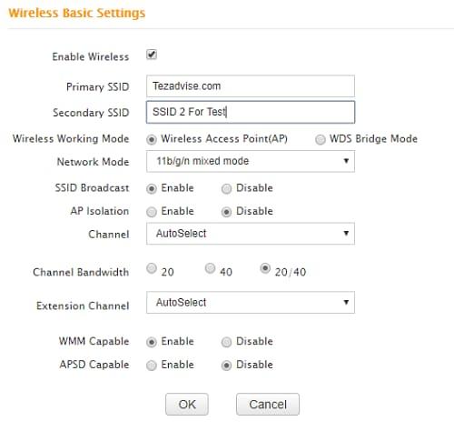 Wireless Basic Settings