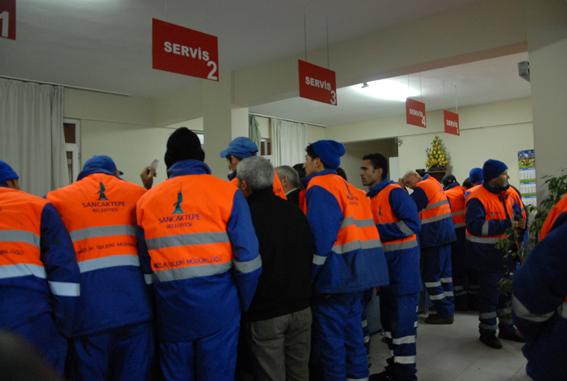 sancaktepe belediyesi parasını alamayan temizlik işçileri