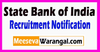 SBI (State Bank of India) Recruitment Notification 2017 Last Date 18-05-2017