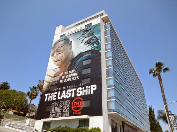 Last Ship giant billboard Andaz Hotel