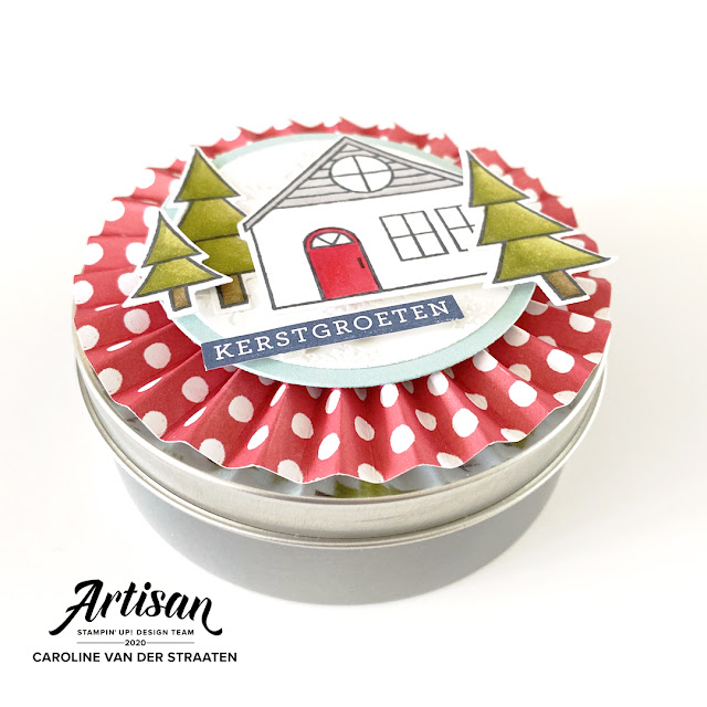 Kerstdoosje, christmas box, Trimming the Town Suite, Coming Home bundle, Stampin' Up!