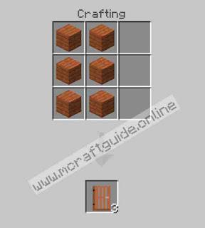 How To Make Acacia Door In Minecraft