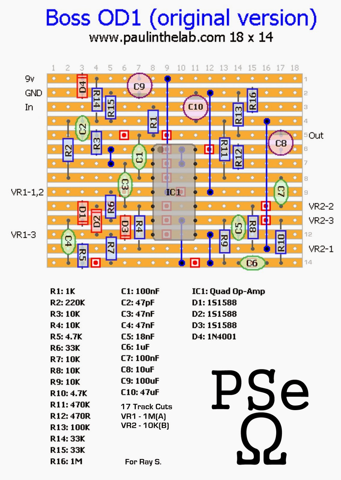 Paul In The Lab: Boss OD-1 Original RC3403 Quad Op-amp