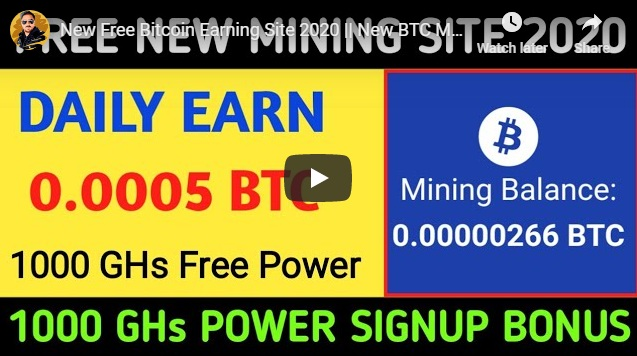 New Free Bitcoin Earning Site 2020 New BTC Mining Website New Bitcoin Mining Site
