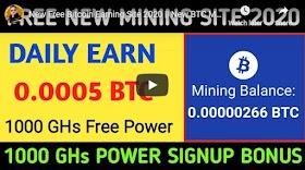 New Free Bitcoin Earning Site 2020 New BTC Mining Website New Bitcoin Mining Site