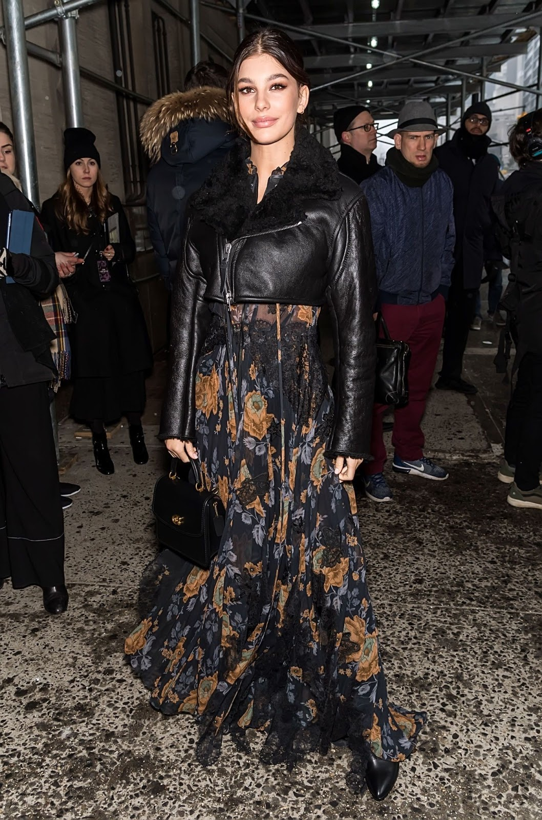 Camila Morrone - Outside Coach fashion show during NYFW in NYC - 02/12/2019