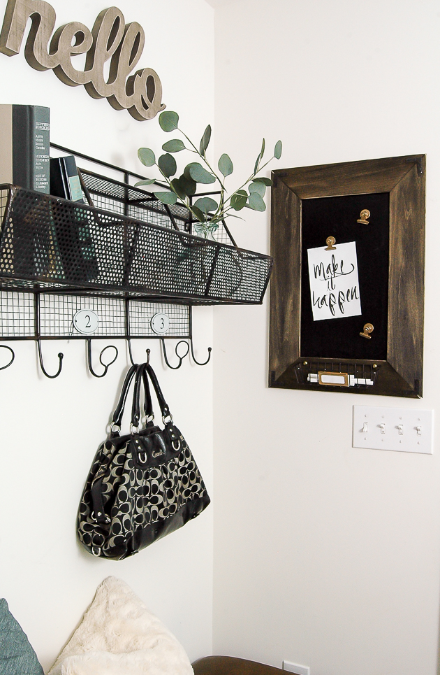 diy magnetic chalkboard message board