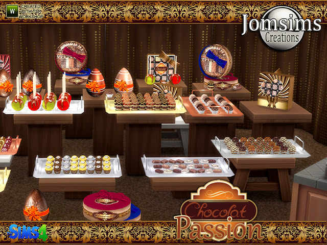 Посуда и декоративная еда — декор для столовой в Sims 4 со ссылкой для скачивания