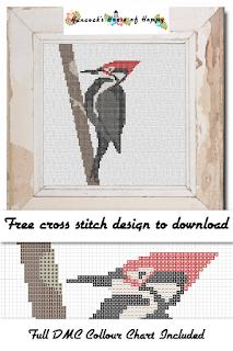 Woodpecker Cross Stitch Pattern